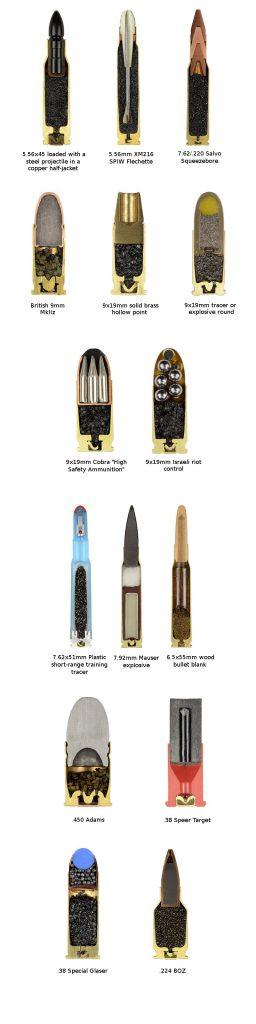 Слики на преполовени куршум